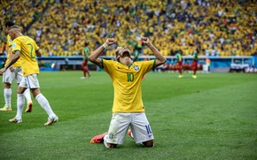Картинка Футбол, Бразилия, Football, Sport, Футболист, Brasil, ФИФА, FIFA, Neymar, Игрок, Неймар, World Cup 2014, Чемпионат …