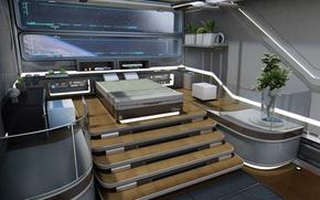 Картинка concept, bedroom, Star Citizen, starship, Constellation