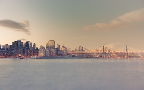 Картинка USA, United States, New York, Manhattan, New York City, Skyline, America, Queensboro Bridge, United States ...