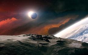 Картинка звезды, планеты, космонавты