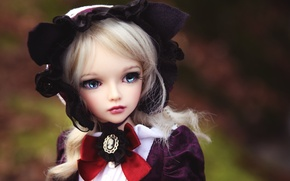 Картинка игрушка, кукла, блондинка, чепчик