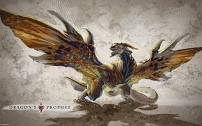 Картинка дракон, крылья, тень, текстура, ярость, texture, dragon, shadow, rage, Innova, 4game, фогейм, Dragon's Prophet, иннова, ...
