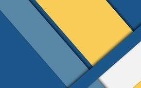 Картинка desing, белый, линии, color, material, синий, голубой, геометрия, wallpaper, желтый