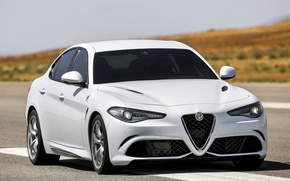 Картинка Alfa Romeo, Quadrifoglio, Giulia, 2015