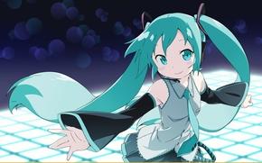 Картинка vocaloid, Hatsune Miku, длинные волосы