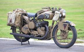 Картинка войны, мотоцикл, военный, мировой, Второй, времён
