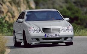 Картинка Mercedes-Benz, Mercedes, E-class, E-Klasse, 1999, E-класс, W210, Executivklasse, Лупатый, Глазастый