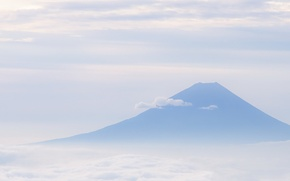 Картинка небо, гора, облако