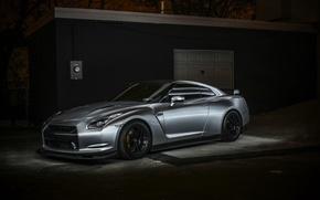 Картинка GTR, Nissan, спорткар, black, ниссан