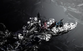 Обои цветы, фон, узоры, формы
