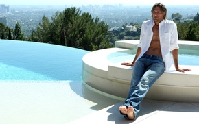 Картинка джинсы, мужчина, рубашка, Gabriel Aubry