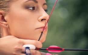Картинка woman, arrow, rope, archery, targeting