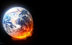 Картинка art, planet, lava, destruction