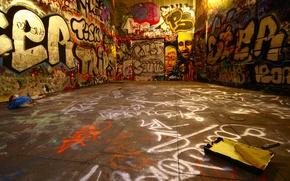 Обои стены, краска, Граффити