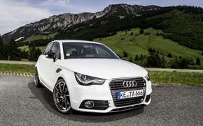 Картинка пейзаж, горы, Audi, ABT, Sportback