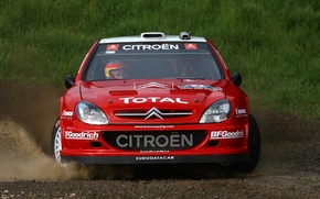 Картинка Ситроен, Citroen, Брызги, Loeb, WRC, Rally, Ралли, Xsara