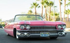 Картинка ретро, кабриолет, передок, 1959, Cadillac Convertible