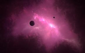 Картинка космос, свет, вселенная, планеты, галактика