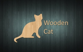 Обои style, wooden style, wooden cat, wood, cat