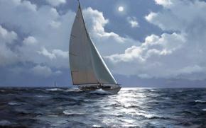 Картинка painting, drawing, Ship, naval art