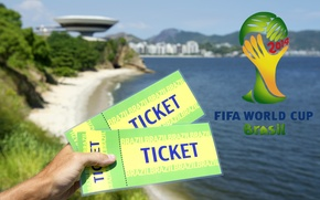 Картинка World Cup, football, logo, 2014, Brasil, FIFA, tickets