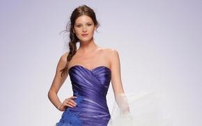 Картинка девушка, модель, платье, прическа