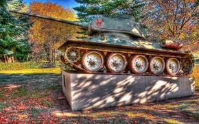 Картинка HDR, памятник, Танк Т-34