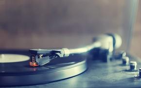 Картинка музыка, проигрыватель, макро обои, гзм 005, Пластина