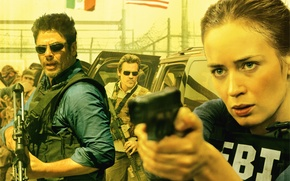 Картинка Girl, Action, Beautiful, Cars, Men, Emily Blunt, Wallpaper, Guns, Woman, Team, FBI, Matt, Year, EXCLUSIVE, ...