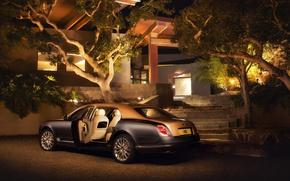 Картинка Bentley, Ночь, Автомобиль, 2016, Mulsanne, EWB