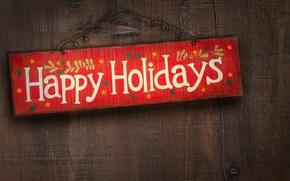 Обои праздник, надпись, табличка, поздравление