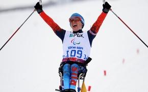 Картинка радость, победа, Биатлон, Сочи 2014, Sochi 2014, Paralympic games, Паралимпийские игры, биатлонистка, паралимпийская чемпионка, паралимпиада, …