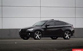 Картинка черный, джип, диски, Tuning, BMW X6, Vossen, бмв икс шесть