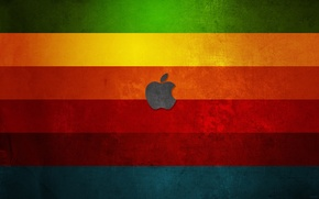 Картинка цвета, apple, радуга