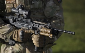 Картинка оружие, солдат, SA-80