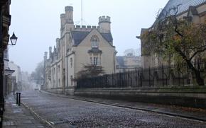 Картинка город, улица, Англия, утро, Oxford, Cotswolds Road