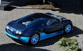 Обои bugatti, veyron, grand sport, vitesse, supercar, blue, бугатти