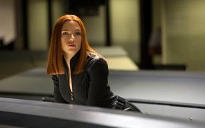 Картинка девушка, актриса, Scarlett Johansson, рыжая, Скарлетт Йоханссон, Marvel, Black Widow, Чёрная вдова, Natasha Romanoff, Наташа …
