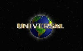 Обои киностудия, земля, universal, лого, планета, звезды, надпись