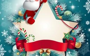 Картинка снежинки, праздник, новый год, рождество, christmas, new year, дед мороз, санта, winter, snow, santa claus, ...