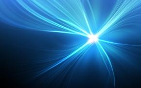 Обои синий, лучи, свет