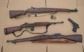 Картинка пистолет, винтовка, карабин, M1911, Colt, самозарядная, Springfield, полуавтоматический, M1 Carbine, M1 Garand, M1903