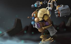 Картинка герой, dota 2, костюм-робота, Tinker