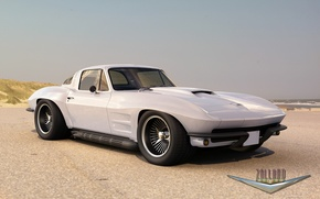 Обои chevrolet, corvette, coupe, by zolland design, 1966, шевроле