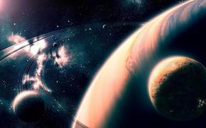Картинка art, stars, planets, Sci Fi