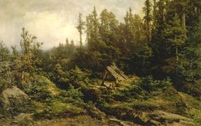 Картинка картина, живопись, painting, Carl Von Perbandt, Pomo Indians Camped at Fort Ross, 1886