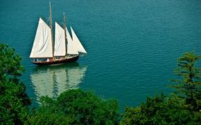 Картинка море, корабль, яхта, парусник