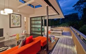 Картинка дизайн, дом, стиль, вилла, интерьер, балкон, терраса