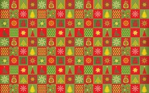 Картинка узор, ковер, звезда, елка, новый год, клетки, ткань, квадрат, снежинка