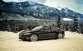 Картинка Tesla, Model S, 2014, тесла, P85D